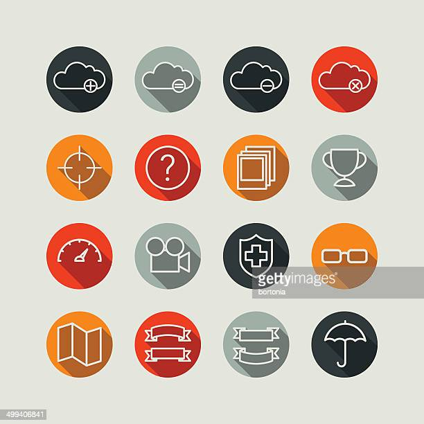 Flat Superlight Interface Icon Set