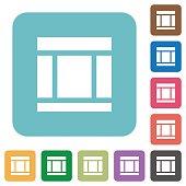 Flat Three columned web layout icons