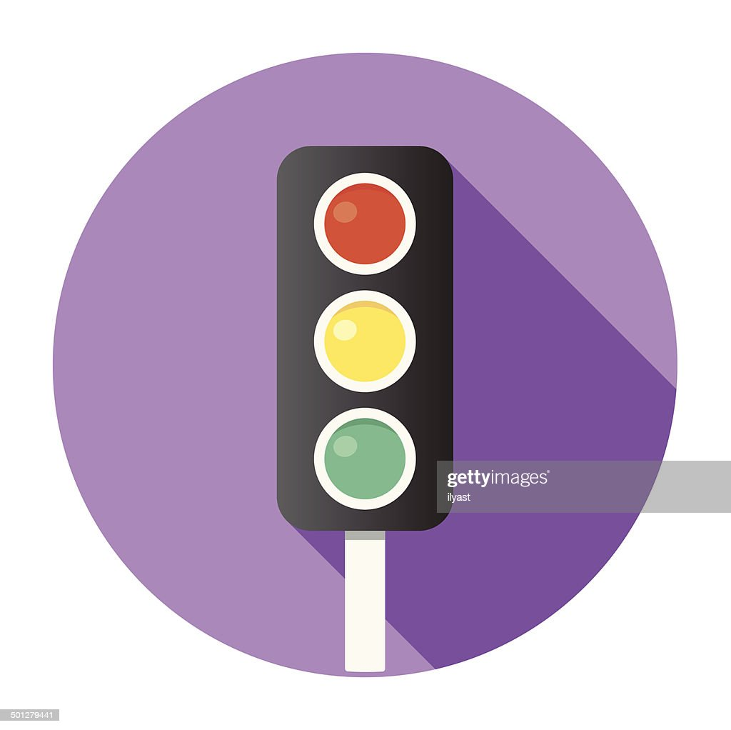 Flat Traffic Lights Icon