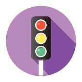Flat Traffic Lights Icon