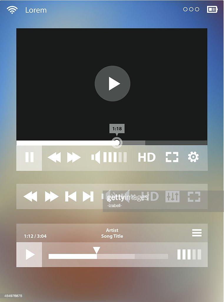Flat transparent Media Player