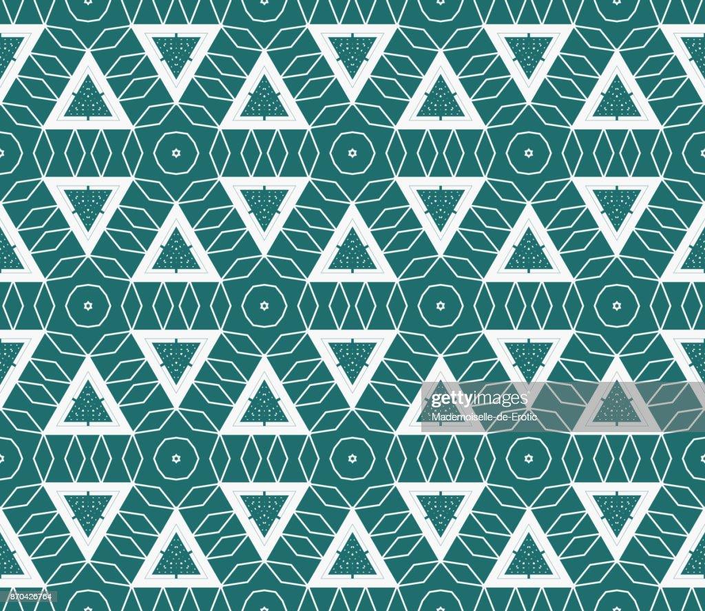 Flat Triangle Seamless Vector pattern. Fashion design print