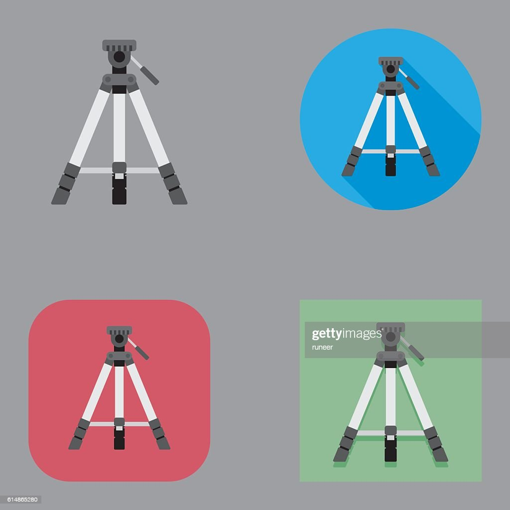 Flat Tripod icons | Kalaful series : stock illustration