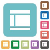 Flat Two columned web layout icons