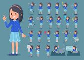 flat type Blue clothes headband girl_1