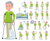 flat type grandpa green Sportswear_sickness