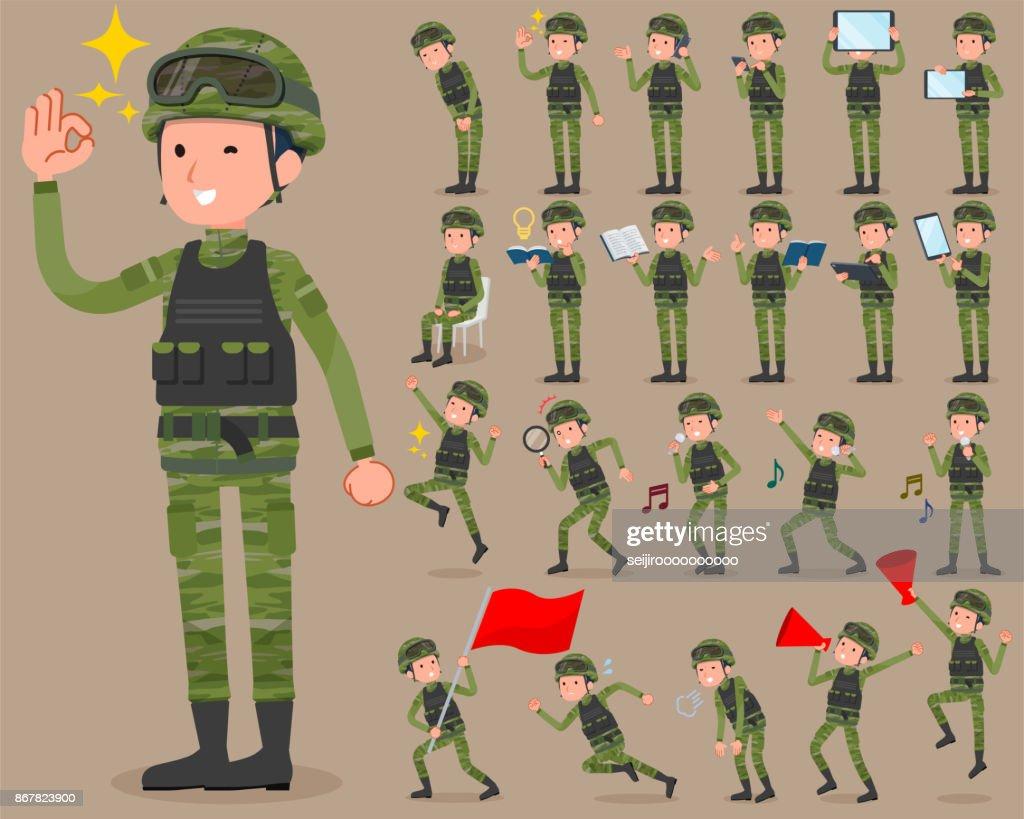 flat type military wear man_2