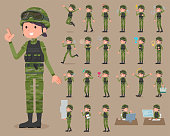 flat type military wear woman_1