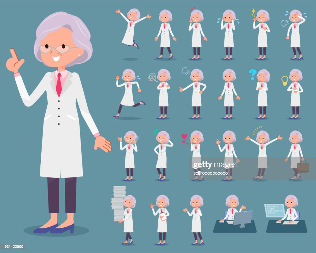 flat type Research Doctor old women_1