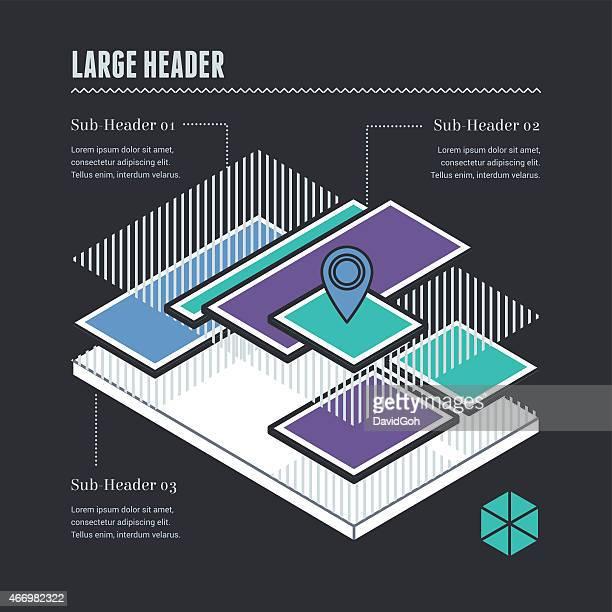 Flache UI-Elemente, Infografiken-Lagen