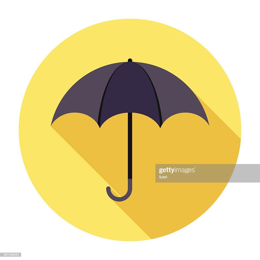 Flat Umbrella Icon : stock illustration