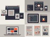 Flat user interface design elements