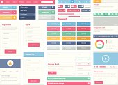 Flat user interface elements set