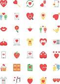 Flat Valentine Vector Icons 2