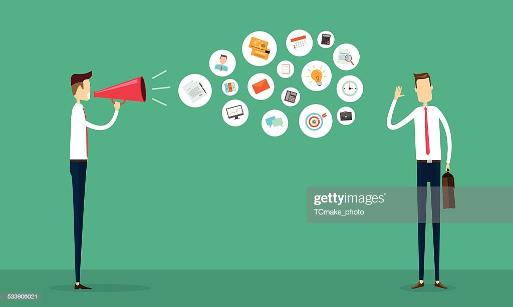 flat vector business communication and connection concept