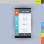 Flat vector collection of modern mobile phones elements.