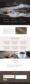 Flat vector design coffee company web landing page