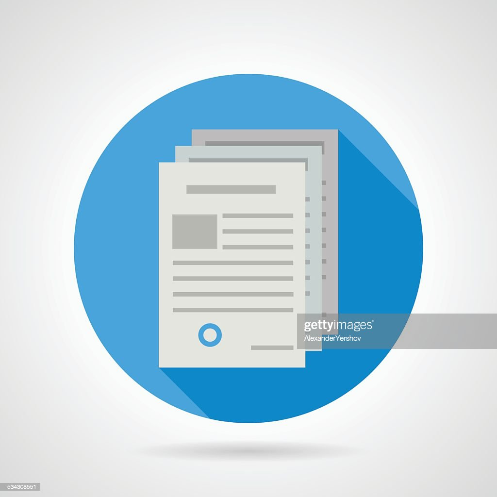Flat vector icon for document