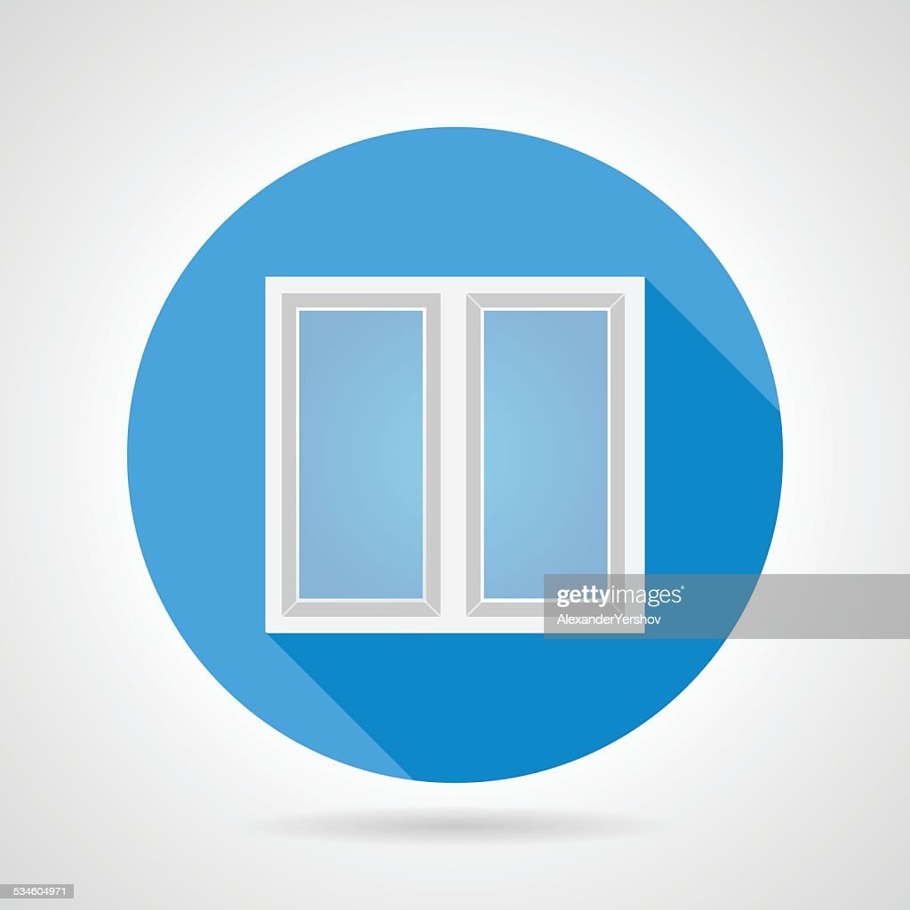 Flat vector icon for white frame window