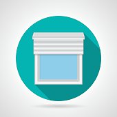 Flat vector icon for window with blinds
