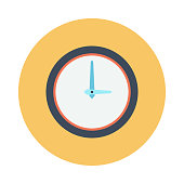 CLOCK flat vector icon