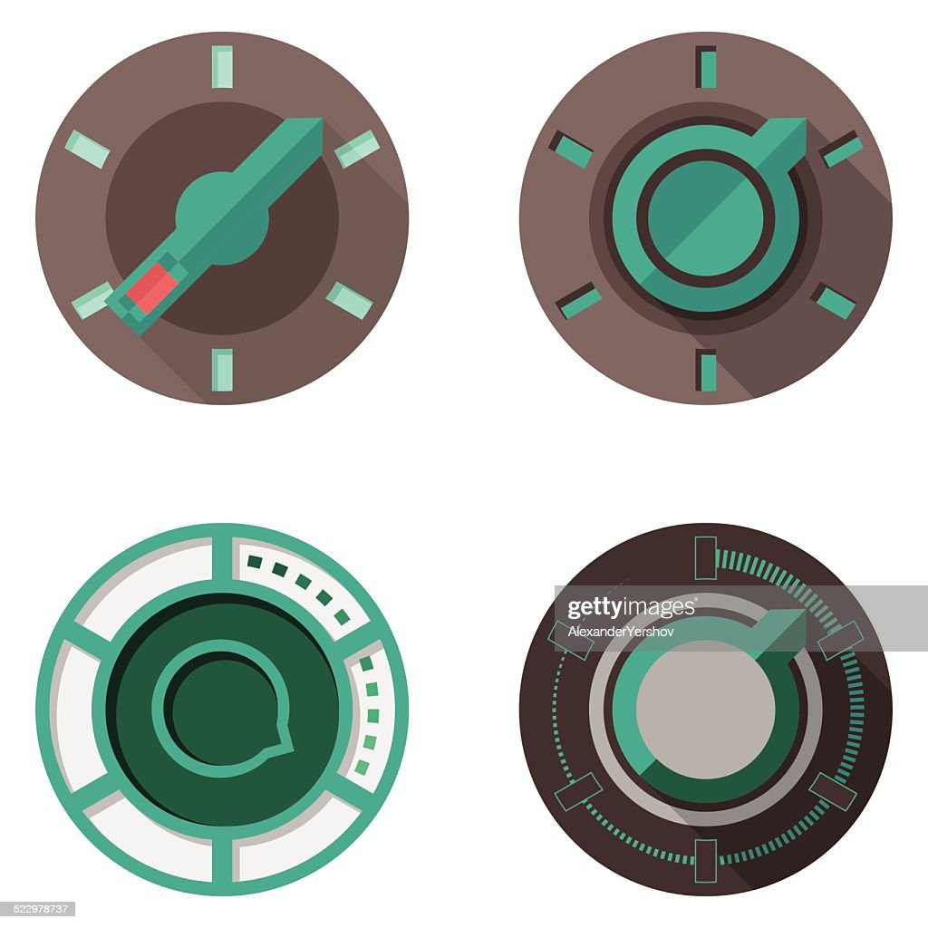 Flat vector icons for tumbler switches
