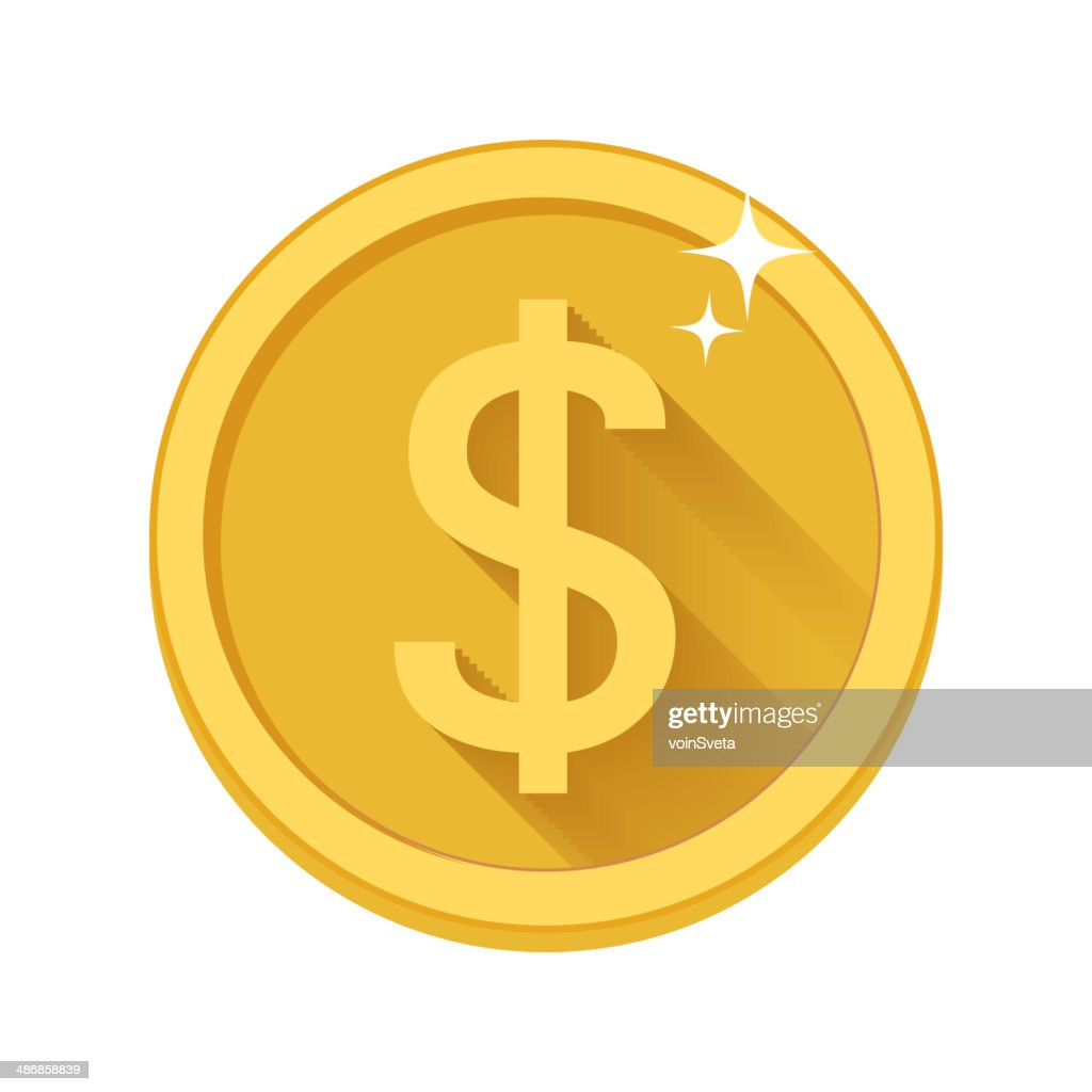 Flat vector money icon