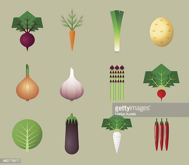 flat vegetable icons - antioxidant stock illustrations, clip art, cartoons, & icons