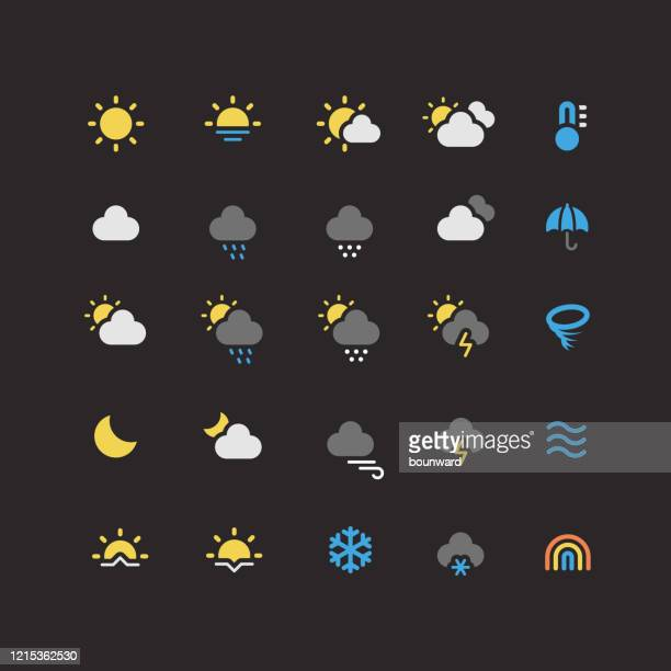 flachewetter-symbole - tag stock-grafiken, -clipart, -cartoons und -symbole