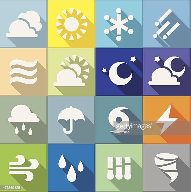 flat weather icons - hurricane stock illustrations, clip art, cartoons, & icons
