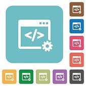 Flat web development icons