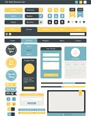 Flat Web Element Collection
