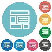 Flat web layout icons