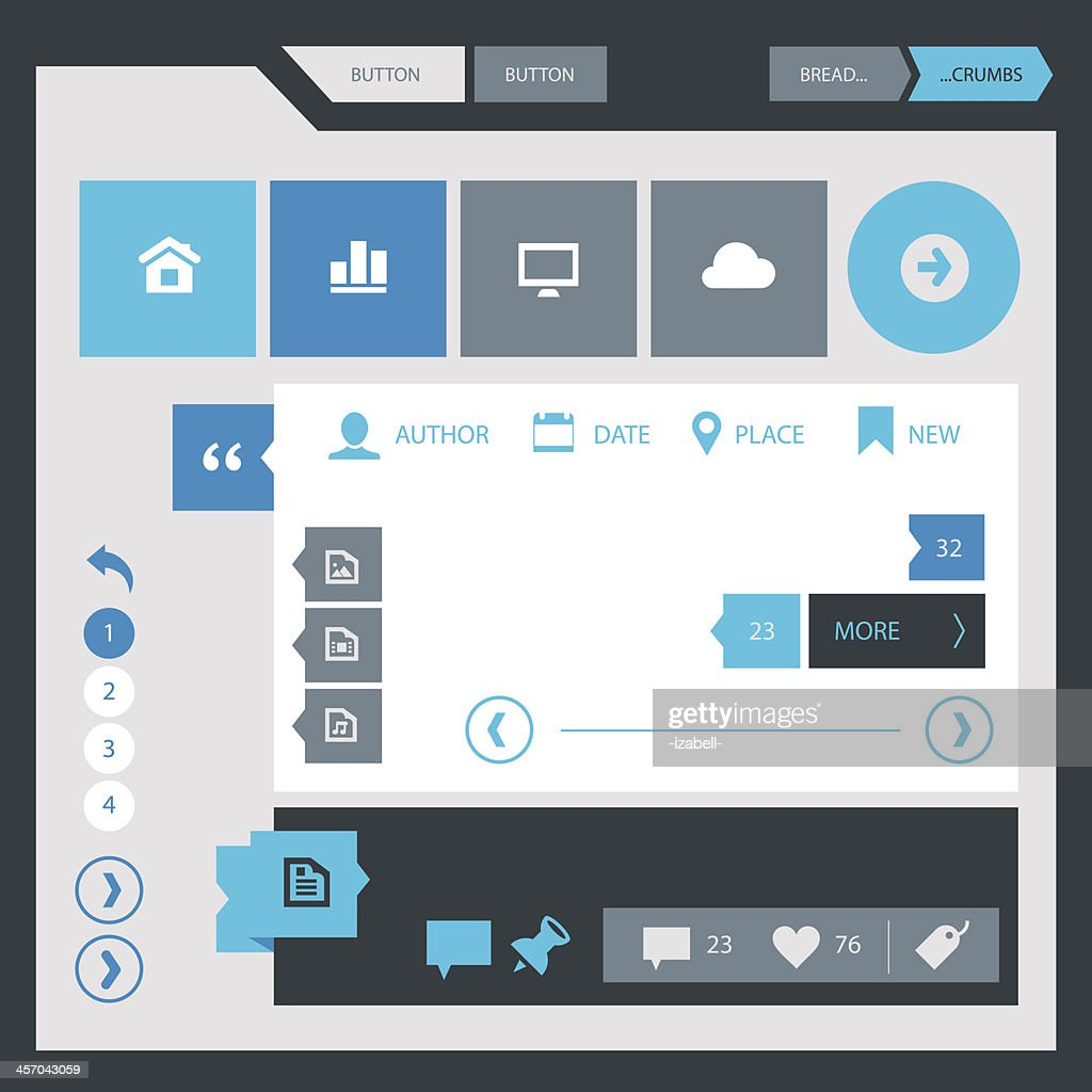 Flat webdesign template