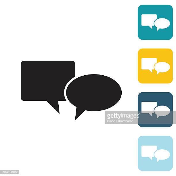 flache icon-sprechblase wedsite - sprechblase für internetchat stock-grafiken, -clipart, -cartoons und -symbole