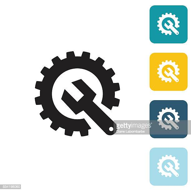 Flat Wedsite Icon - Technical Support