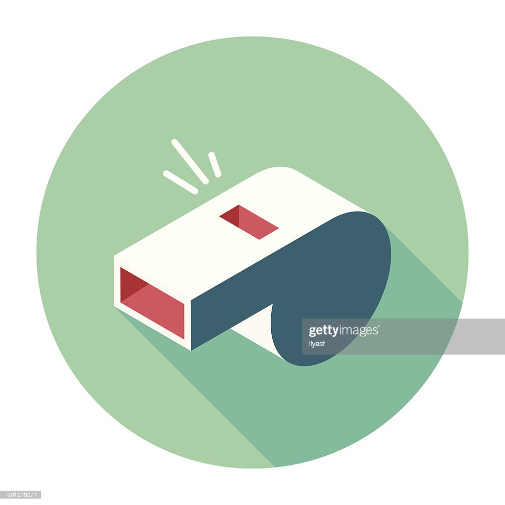 Flat Whistle Icon : stock illustration