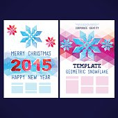 Flat winter vector template design