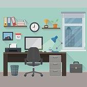 Flat workplace