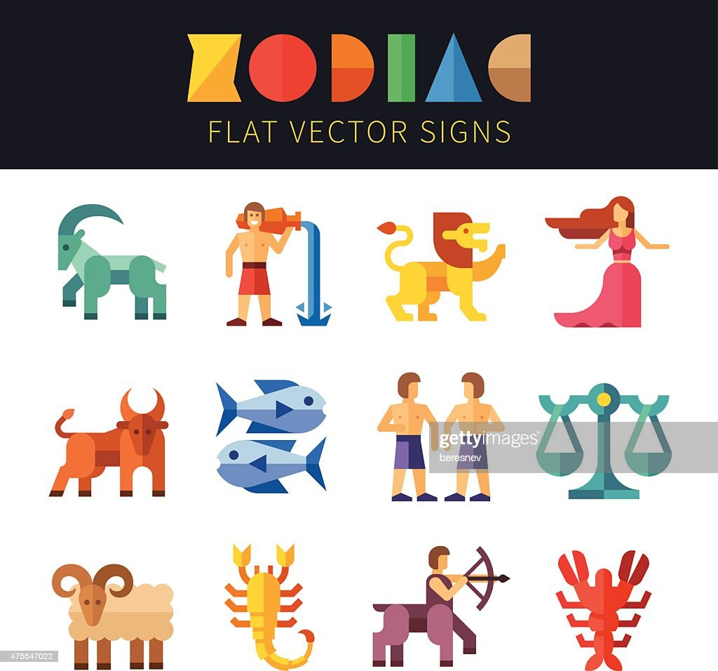 Flat zodiac signs, astrology