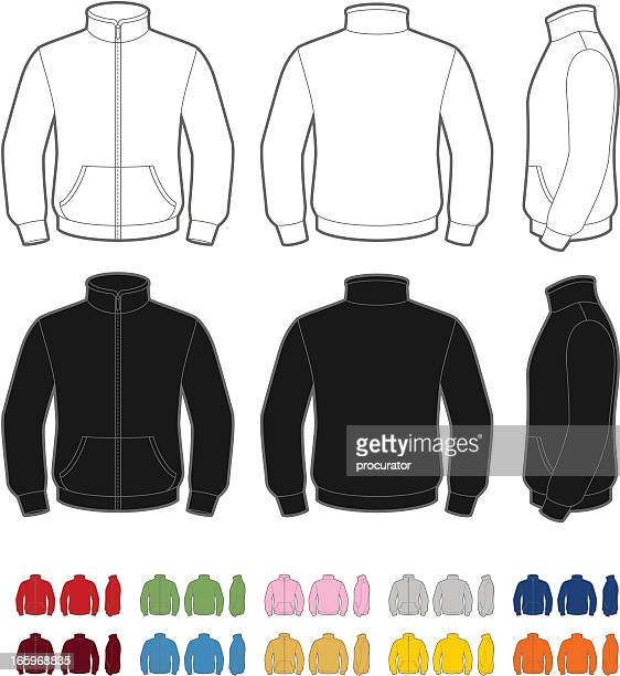 fleece jacket - sweater stock illustrations, clip art, cartoons, & icons
