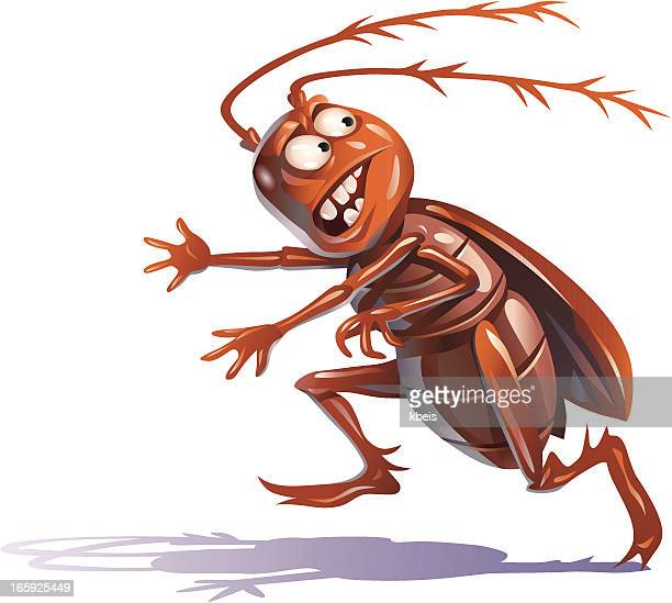 fleeing bug - insect stock illustrations