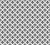 Fleur de lis black and white seamless pattern background