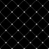 Fleur de lis black dark seamless pattern background