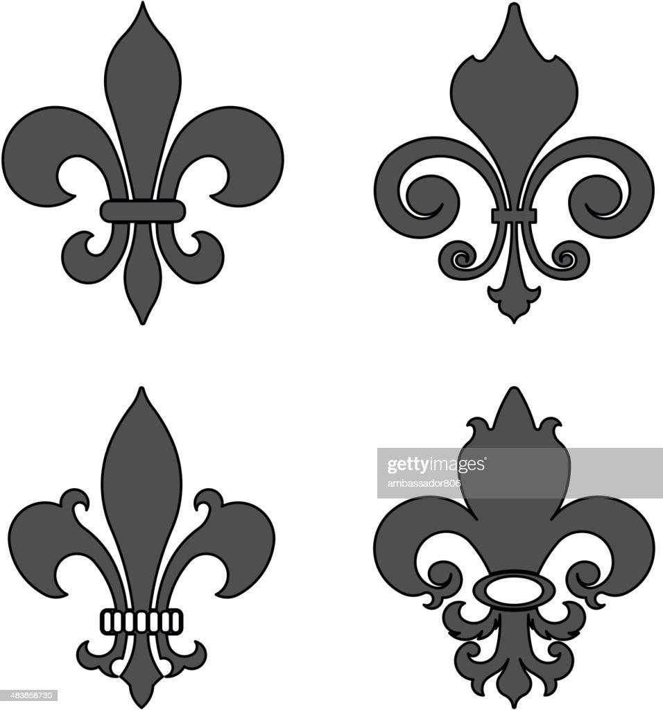 Fleur De Lis Heraldic Flower Symbol Vector Illustration Vector Art