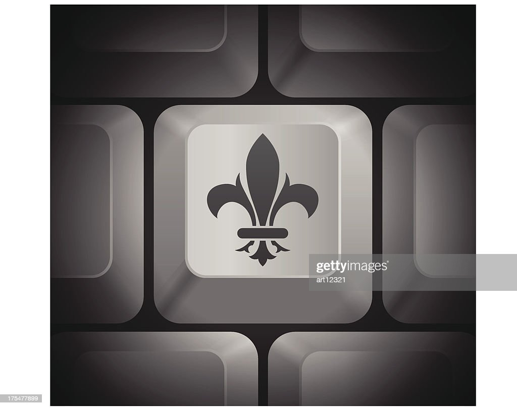 Fleur De Lis Icon On Computer Keyboard Vector Art Getty Images