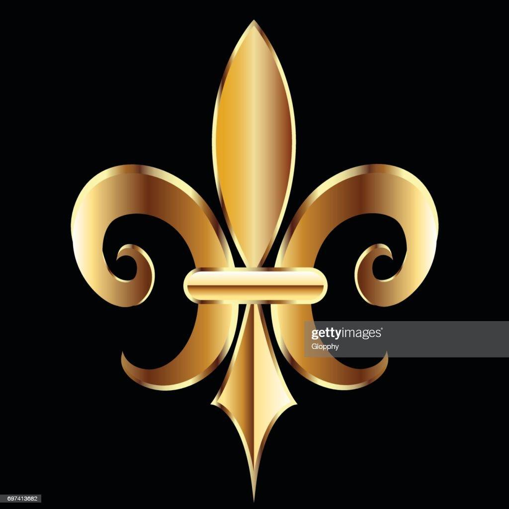 Fleur De Lis Symbol Flower Icon Vector Art Getty Images