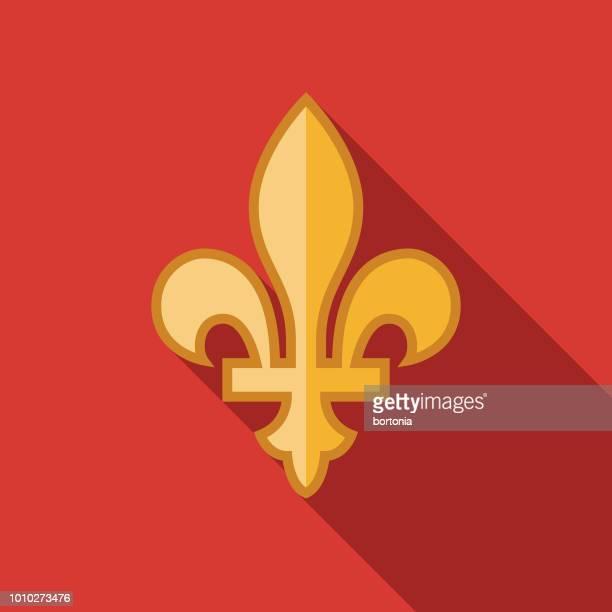 Fleur de Lys Flat Design France Icon