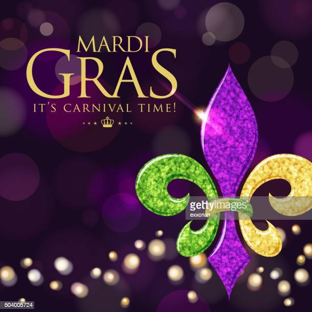 illustrations, cliparts, dessins animés et icônes de symbole de fleur de lys fond violet - fleur de lys