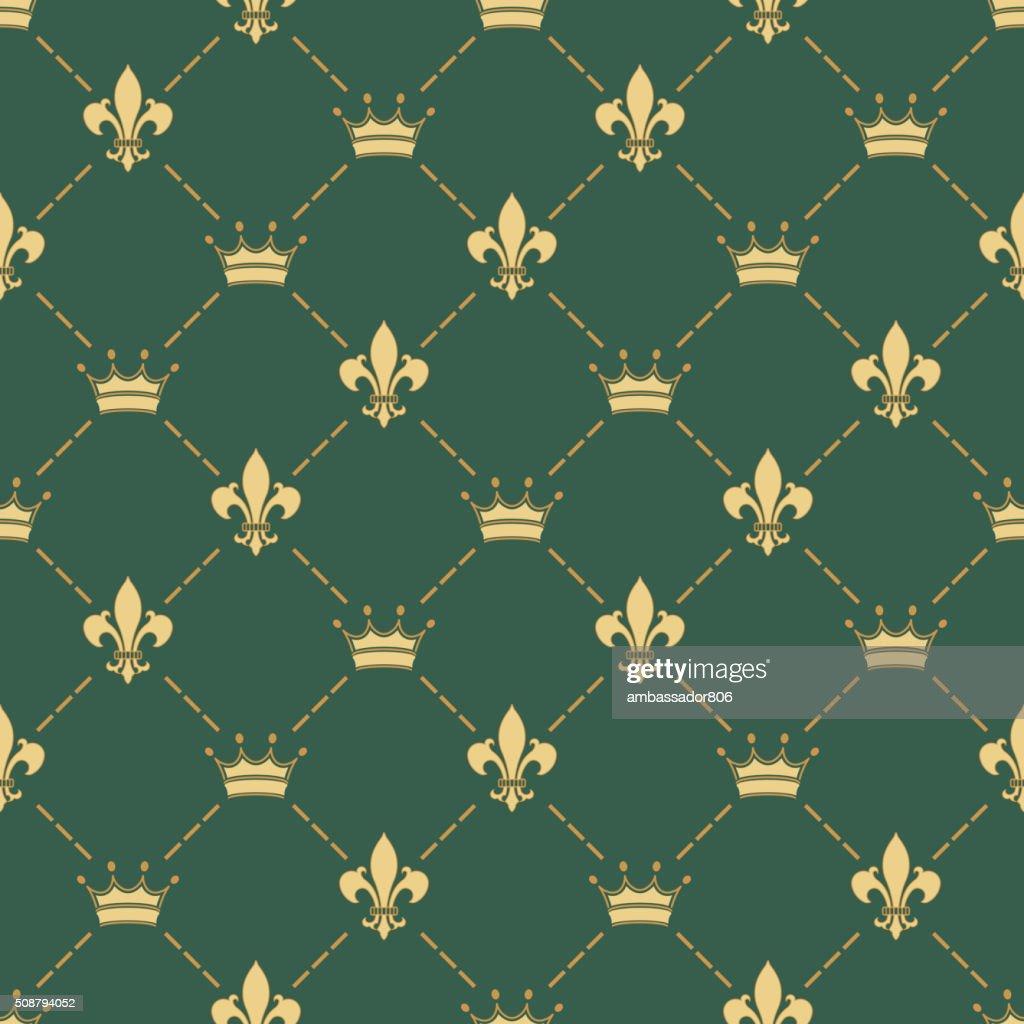 Fleur-de-lys seamless pattern